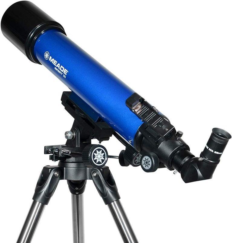 Meade Infinity 90mm AZ Refractor Telescope Back